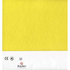 Geel textielvilt soft 30 x 45 cm van Rayher