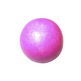 Roze, ronde houten kraal