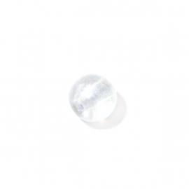 Doorzichtige ronde glaskraal met olieglans