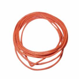 Oranje gewaxt katoen 1 mm