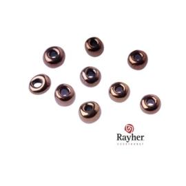 Koperkleurige rocaille met zilverkern 2,6 mm van Rayher