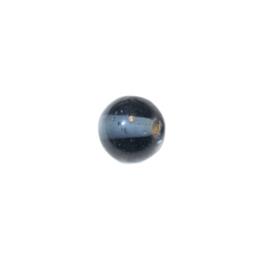 Donkergrijze ronde glaskraal