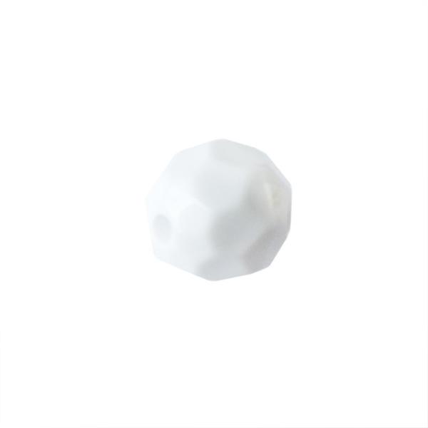 Witte polyester facetbol
