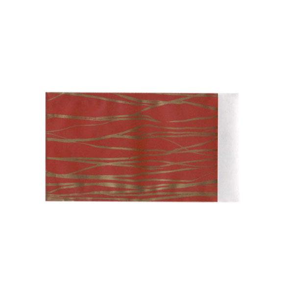 Rood met goud papieren cadeauzakje large