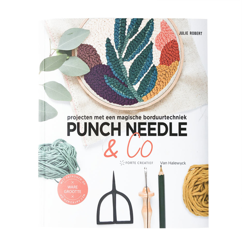 Punch needle en Co - Boek Julie Robert