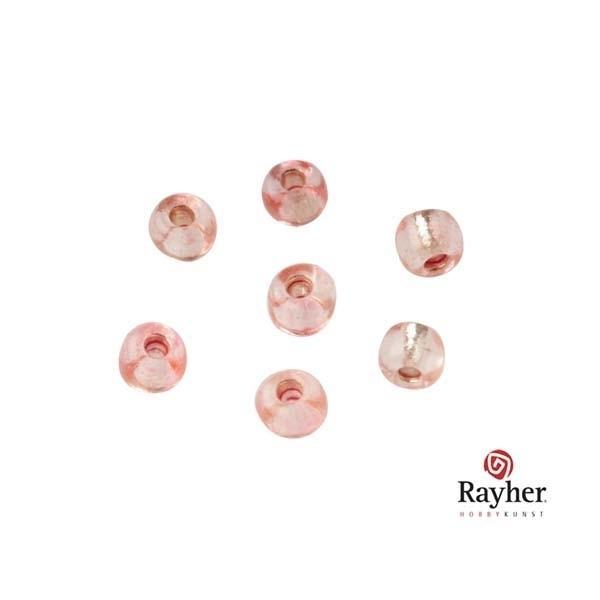 Roze Rocaille met zilverkern 2,6 mm van Rayher