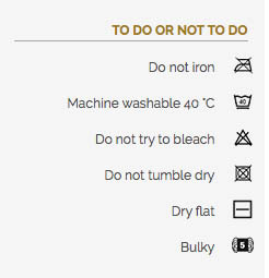 Washing instruction Softmix ByClaire