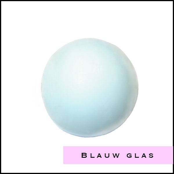 Blauwe glas kralen