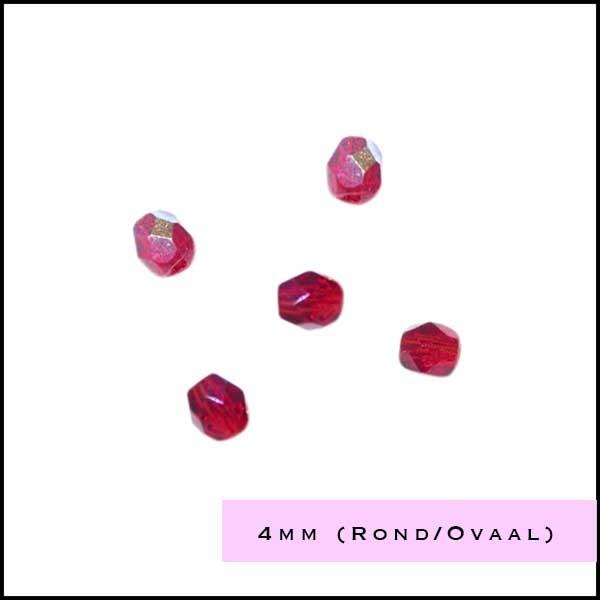 Facetkraal rond/ovaal 4 mm