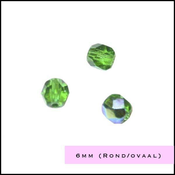 Facetkraal rond-ovaal 6 mm