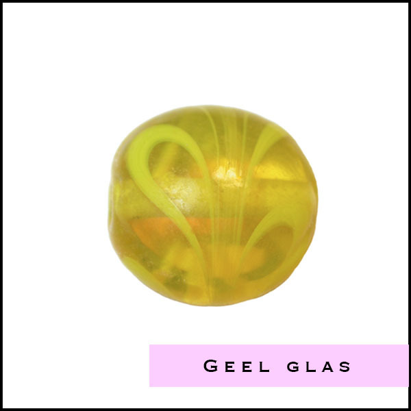 Gele glas kralen