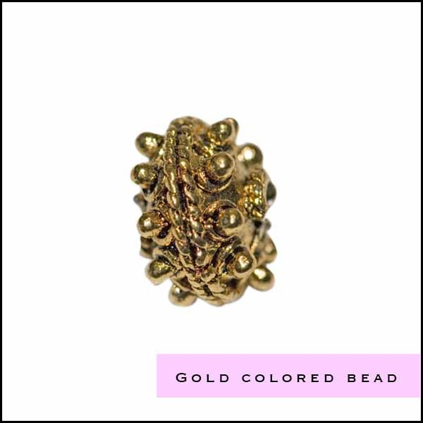 Gold colored beads