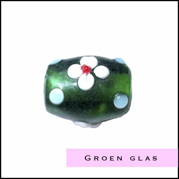 groene glaskralen