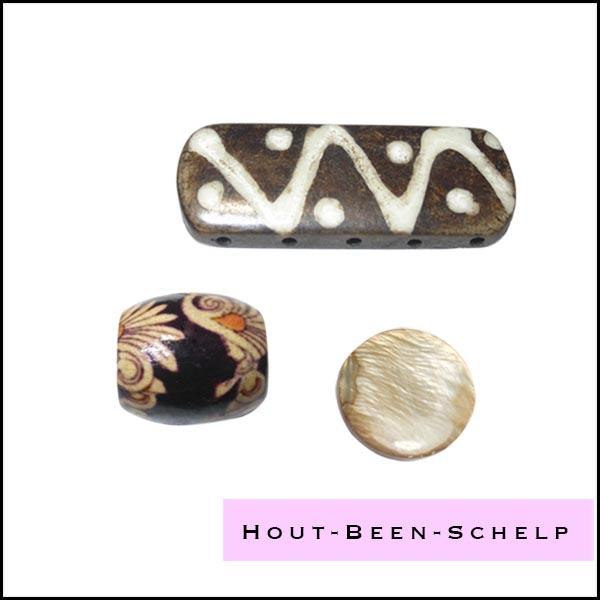 Hout - Been - Schelp - Kokos kralen