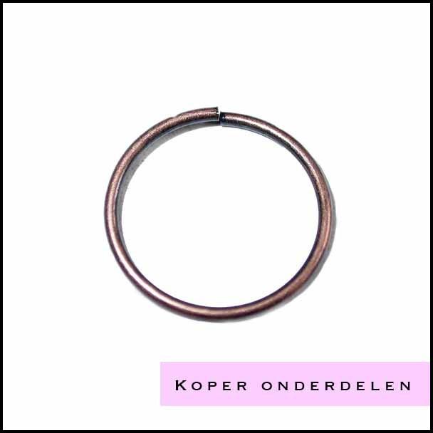 Koperkleurige onderdelen sieraden maken