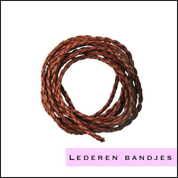 Lederen veters en bandjes om sieraden mee te maken