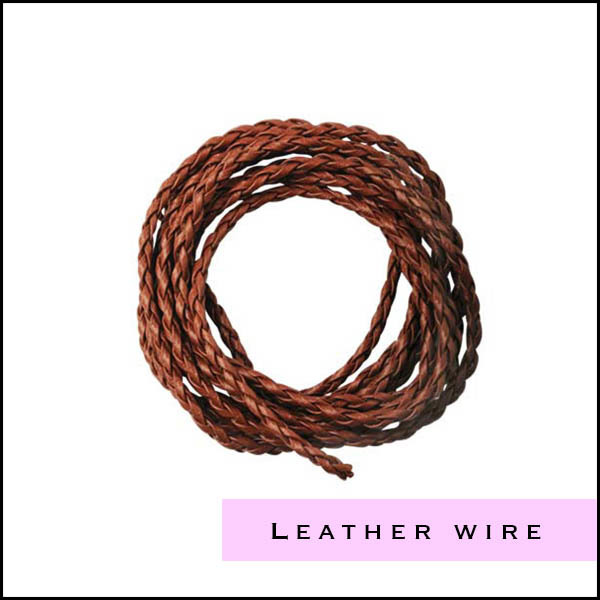 Leather laces for jewelry making