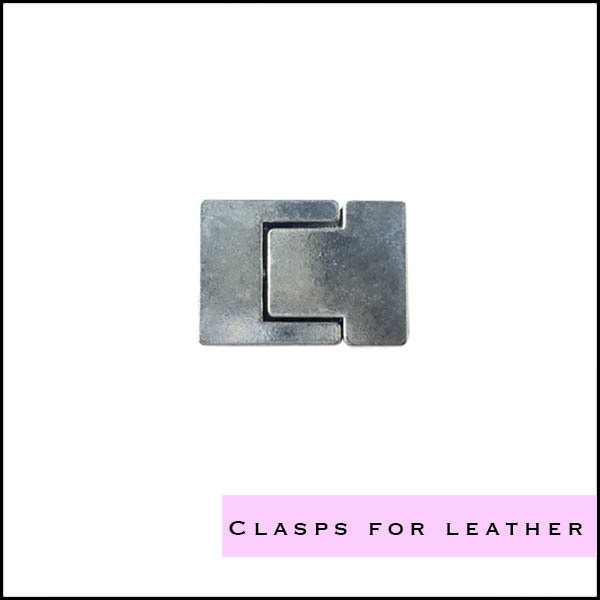 Clasps for making leather jewelry