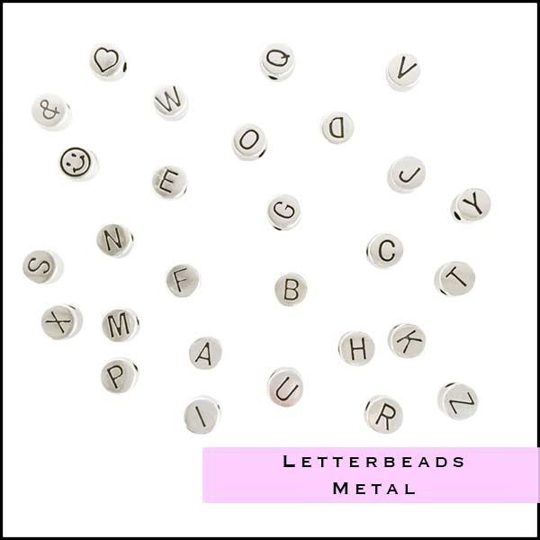 Letter beads Rayher Rockstars - Cottonandcandles