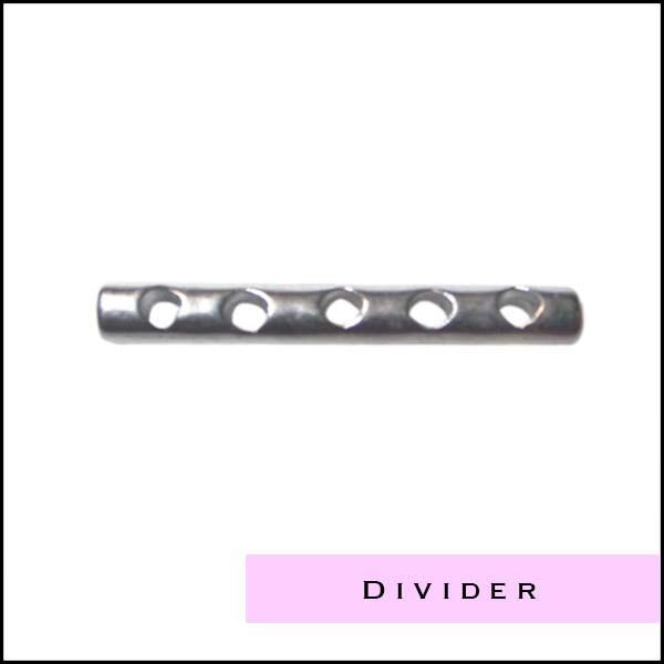 Divider metaal- en zilverkleurig