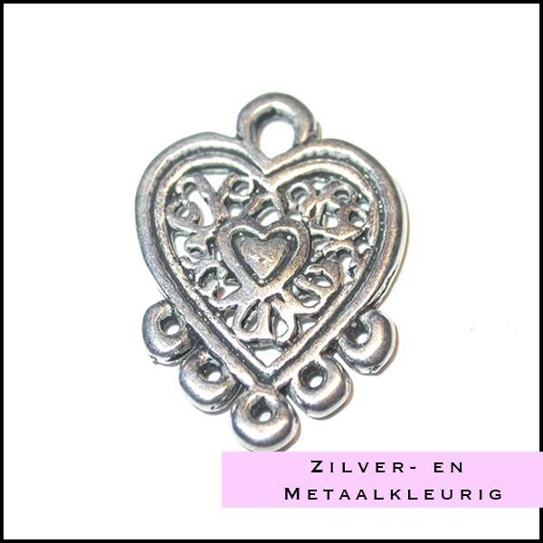 Zilver en metaalkleurige onderdelen