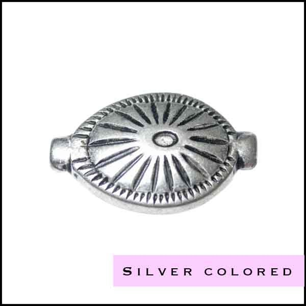 Metal beads, silver colored