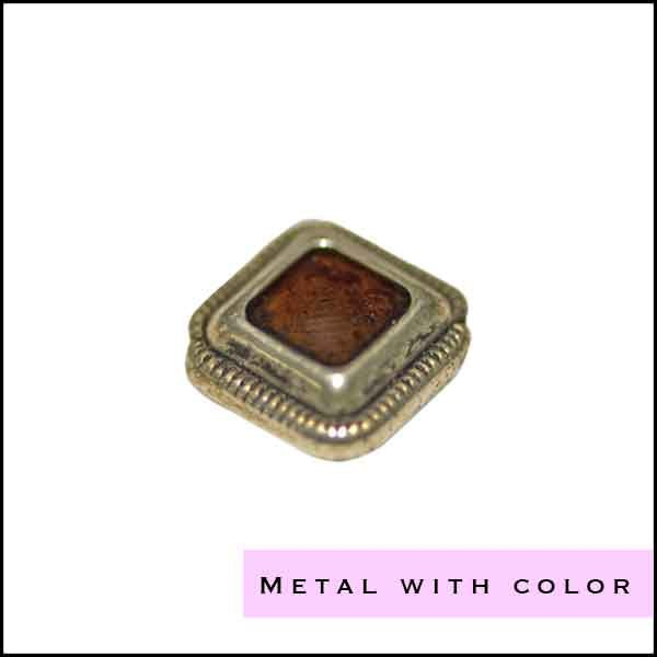 Metal beads with color