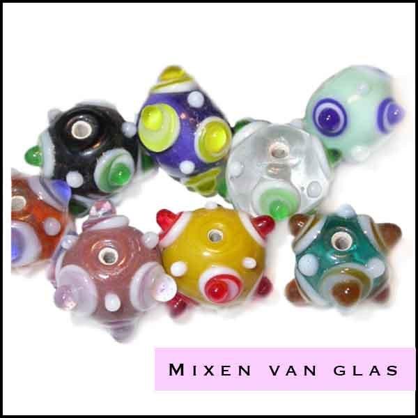 Mix gekleurd glas