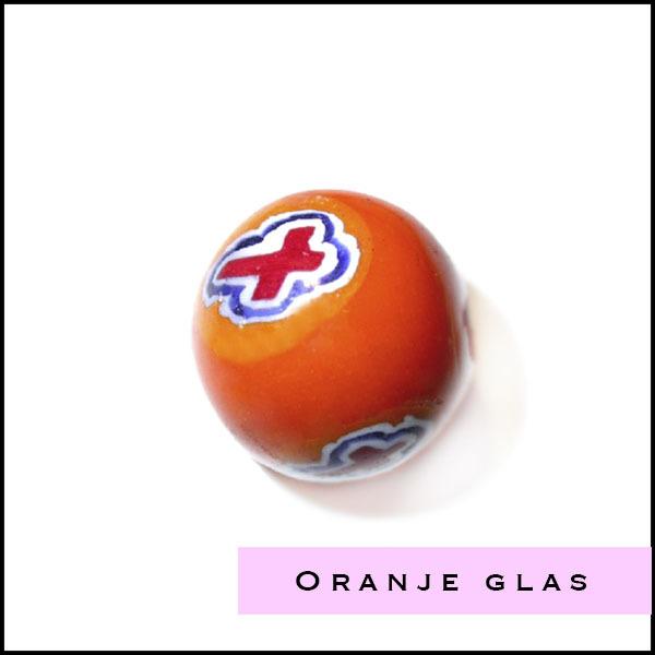 Oranje glas kralen