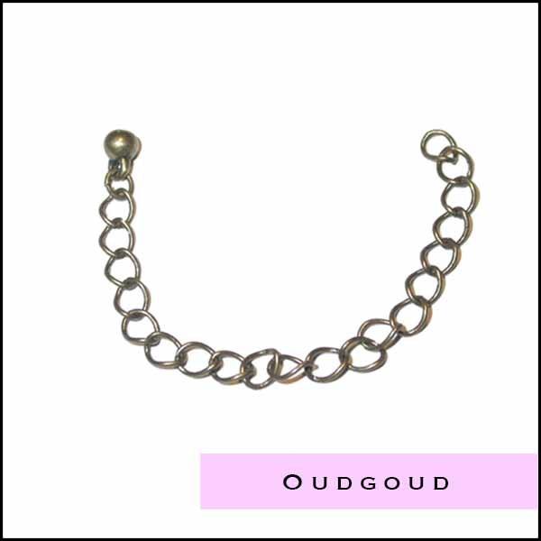 Oudgoudkleurige onderdelen en kralen - Cottonandcandles