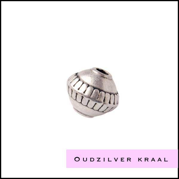 Oudzilverkleurige kralen - Cottonandcandles
