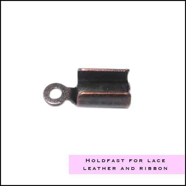 Holdfast for leather, lace and ribbon - Cottonandcandles