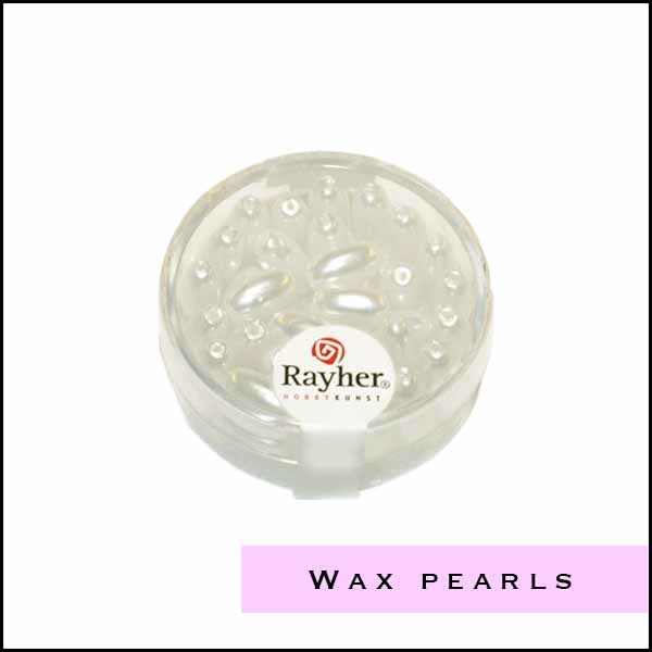 Wax pearls from Rayher