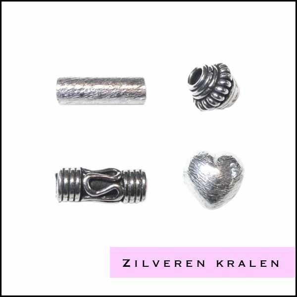 Zilveren kralen - Cottonandcandles