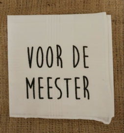 "Zakdoek ""Meester"""