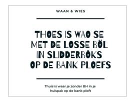 Thoes is wao se ... slidderboks