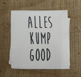 "Zakdoek ""Alles kump good"""