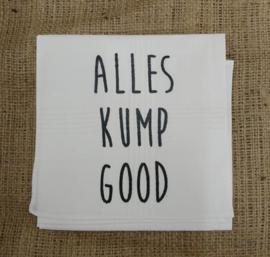 """Zakdoek """"Alles kump good"""""""