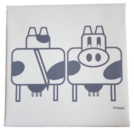 Canvasdoek koe v/a