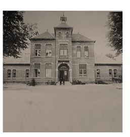 """Onderzetter """"Oude school en Raadhuis"""""""