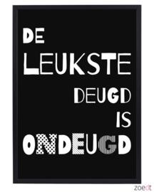 Poster met tekst De leukste deugd is..