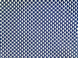 Stof - Blauw driehoek mini