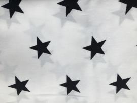 Stof - Wit met zwarte ster