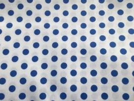 Stof - Blauw / Kobaltblauw stip