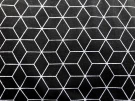 Stof - Zwart diamant nieuw