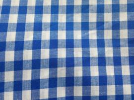Stof - Blauw / Kobaltblauw ruit