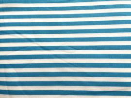 Stof - Blauw (fel) streep
