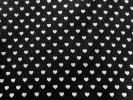 Stof -  Zwart met wit hartje