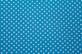 Stof - Blauw / Stip (wit)