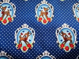 Stof - Blauw / Kobaltblauw hert